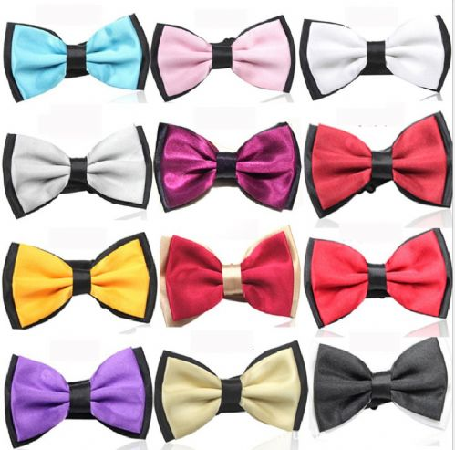 Mens Dickie Bow Tie Two Tone double Layer Formal Shirt Wedding Prom UK Gift